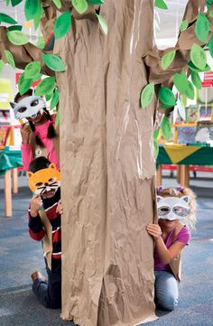 Recruit kids to make forest animal masks that can be used as fun photo props. Plan the craft project as a schoolwide assignment or set up an activity table inside the Book Fair where shoppers can get creative.
