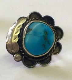 Turquoise and Sterling Silver Ring  $85  Dealer #282  Lula B's  1010 N. Riverfront Blvd. Dallas, TX 75207   Like us on Facebook: https://www.facebook.com/pages/Lula-Bs-Antique-Mall/35282597866