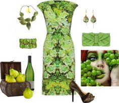 """""""Pears and Grapes"""" by nancyell ❤ liked on Polyvore"""