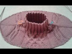 Метод непрерывного вязания спицами. Свитер с аранами. Часть 2. Кnit sweater. - YouTube