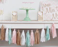 Pink + Mint Glamorous Bridal Shower