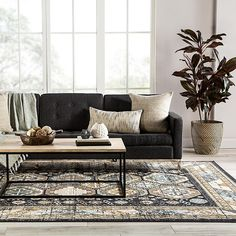 This Power Loomed rug would make a great addition to any room in the house. The premium feel and durability of this area rug will make it a must for your home. Tan Living Room, Masculine Living Rooms, Rugs In Living Room, Dark Couch Living Room, Grey Sofa Living Room, Black Living Room, Black Couch Living Room, Living Room Grey, Living Room Designs