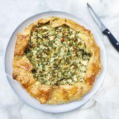 Romaine sla: hartige taart met gegrilde sla www.madebyellen.com