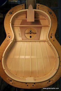 Luis Fernández de Córdoba, luthier: Making a flamenco guitar   the braced top...