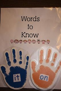 High five sight words on your way out the door... love it!