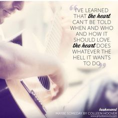 Colleen Hoover. Maybe Someday.