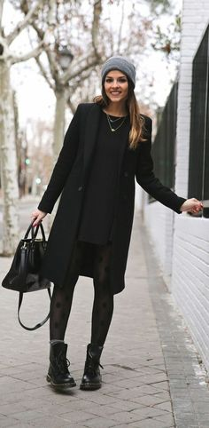 strickkleid winter schwarz
