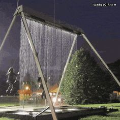 Water swings..Love it. (gif)