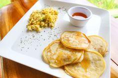 Banana pancakes  Drake Bay Cafe Drake Bay, Osa Peninsula Costa Rica #food #coffee #foodie