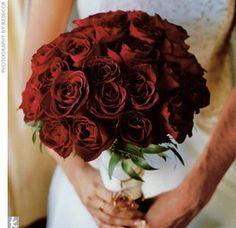 Bridal bouquet - three dozen Black Magic roses