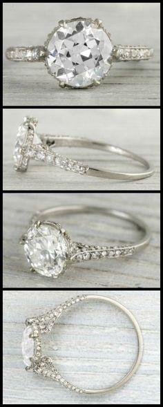 This amazing 2.03 carat is designed by J.E Caldwell, so antique , so lovely, circa 1920, found by Diamonds in the Library.