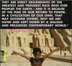Smh..know thyself Some truth, but not all. We need to all dig deeper. The truth is hidden but visible only to those that Love The Most High God and keep his laws. Everything we black Israelites have been taught is a lie. And everything that surrounds us in America is a deception. Satan has been working very very hard since The garden of Eden. Educate thyself. Read and study your bibles. Do the research. And pray. We turned our faces from The Most High and now we are Cursed. Deuteronomy…
