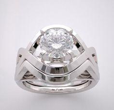 custom designed contemporary engagement ring sets | CONTEMPORARY DIAMOND ENGAGEMENT RING SETTING