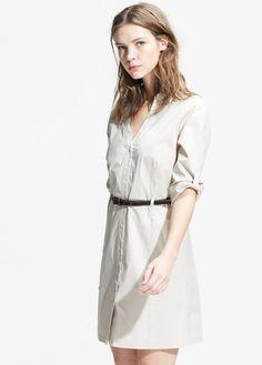 Belted shirt dress   MANGO