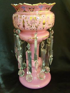 Victorian mantle lustre, I have several  of these in different colors, wish I had one in pink