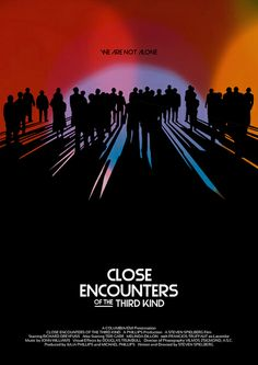 Close Encounters of the Third Kind (1977)  - Alternative Movie Poster by Owain Wilson ~ #alternativemovieposter #owainwilson