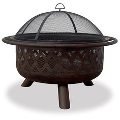 "Uniflame 36"" Bronze Fire Bowl with Criss-Cross Design - WAD792SP"