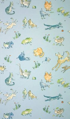Quentin Blake - Menagerie Wallpaper