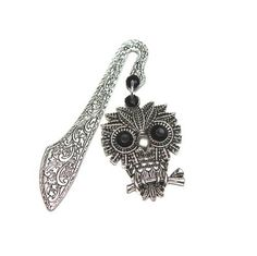 The tab for books silver FEISTY OWL