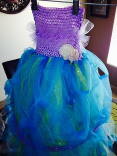 Little mermaid costume. DIY