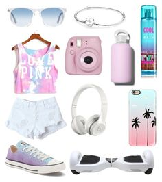 """""""PinkWhite⚪️"""" by r3b3ccaxx ❤ liked on Polyvore featuring Converse, Oliver Peoples, Pandora, bkr, Casetify and Beats by Dr. Dre"""