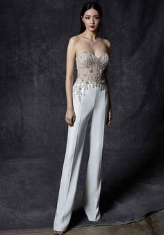 Wedding Suits For Bride, Best Wedding Suits, Couture Wedding Gowns, Wedding Dresses, Wedding Jumpsuit, Wedding Dress Pictures, Dress Out, Jumpsuit Dress, Dress Collection