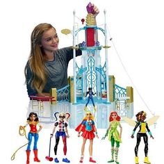 New DC Super Hero Girls Playset Action Figures Dolls Collections Gift Toys Set #DCComics