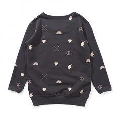 370085a4f65aef Missie Munster Love Arrow Sweatshirt (soft black) at Black Wagon Arrow,  Sweatshirt