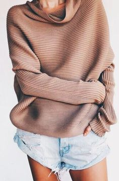 ribbed sweaters + one teaspoon shorts