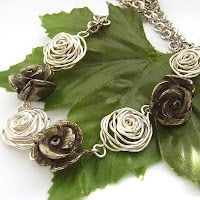 wire roses tutorial: Blue Forest.  Fast & Easy wire roses  #wire #jewelry #tutorial