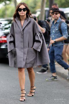 Уличная мода: Неделя высокой моды в Париже осень-зима 2014-15: уличная мода