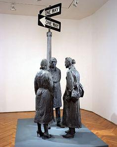 George Segal - WikiPaintings.org                                                                                                                                                                                 Mehr Line Sculpture, Modern Sculpture, Abstract Sculpture, George Segal, Traffic Light, Land Art, Van Gogh, Pop Art, Contemporary Art