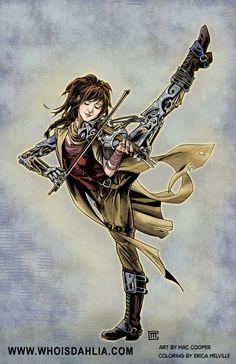 Lindsey Stirling Steampunk Violinist by DahliaSteampunk