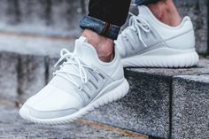 http://SneakersCartel.com 30% off Adidas Tubular Radial 'Crystal White' (via…