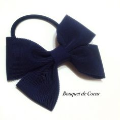 ハンドメイド シンプルリボンゴム♡ ブラック♡ネイビー♡ワインレッド  http://s.ameblo.jp/bouquet-de-coeur/  Handmade Simple ribbon hair accessory Black, navy and wine red Black