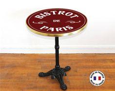 Bistro emailliert an die Franzosen 60 cm Tisch / bar von Ardamez
