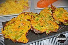 Pataniscas de courgette e cenoura