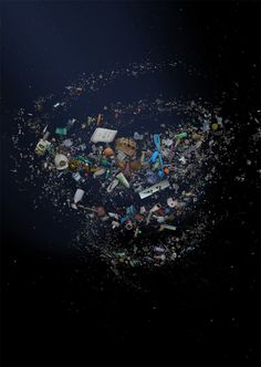 UK based photographer mandy barker demonstrates the impact of the 2011 tsunami in japan through her photo collages, which have been assembled from items collected from the disaster area. in shoal by mandy barker trash art Denver, Ocean Pollution, Plastic Pollution, Marine Debris, Chicken Crafts, Save Our Earth, Trash Art, Bath Brushes, No Plastic