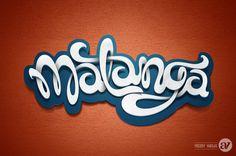 Matanga Lettering by Alfredo Vargas, via Behance