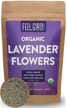 Organic Lavender Flowers Extra Grade Dried Resealable Bag 100 Raw From France by Feel Good Organics *** Details can be found by clicking on the image. Lavender Lemonade, Lavender Buds, French Lavender, Lavender Flowers, Provence Lavender, Bath Bomb Recipes, Soap Recipes, Gourmet Recipes, Pelo Rasta