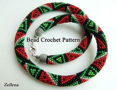 Bead Crochet Necklace Pattern Juicy berry by LGreenBeads on Etsy, $6.00