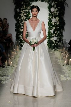 Anne Barge Bridal Fall 2016 Bridal  i like the structure of the top, but i want something more interesting than this
