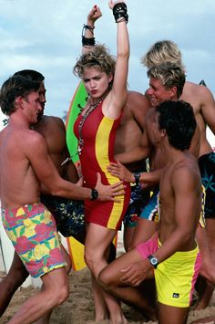 """Madonna romps in this outtake picture from the 1985 Herb Ritts """"Boys of Summer"""" shoot."""