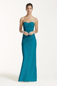 26d8ae66a30d oasis long lace sweetheart neckline bridesmaid dress david's bridal Begonia Bridesmaid  Dresses, Davids Bridal Bridesmaid