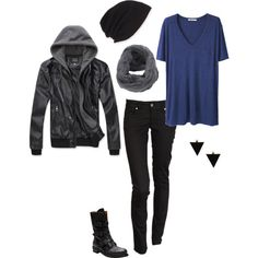 """My new outfit I created on Polyvore: """"Zombie Apocolypse Fashion"""". Cause you need to be stylish as well as functional."""