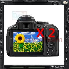 2pcs High Quality LCD Display Screen Film Protector For Nikon D5300 D5500 D5600 PB432