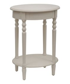 Loving this Antique White Simplify Oval Accent Table on #zulily! #zulilyfinds