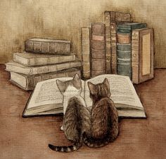 catsarelove:  in the library (by ~moussee)                                                                                                                                                                                 More