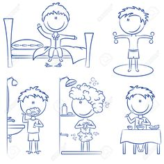 Daily Life Including Wake Up, Morning Exercises, Teeth Cleaning ...
