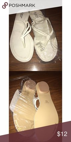 White Flip Flops Size 11 / Brand New Shoes